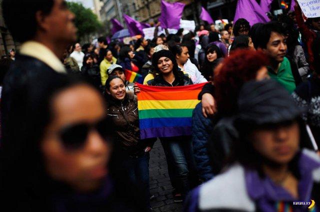 В Мексике прошел шестой ежегодный «Марш лесбиянок»