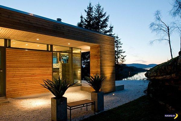 Теплый домик в холодной Норвегии