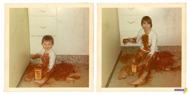 Ирина Вернинг - ремейки старых фото