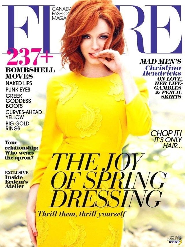 Кристина Хендрикс для майского Flare Magazine