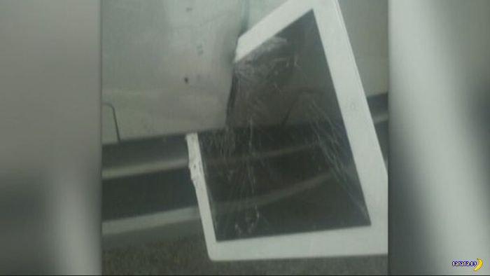 В бампер прилетел iPad