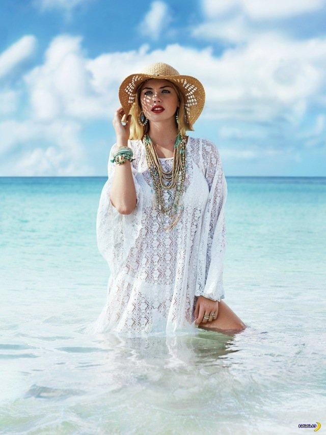 Кейт Аптон покажет купальники и аксессуары