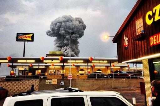 А теперь взрыв в Техасе