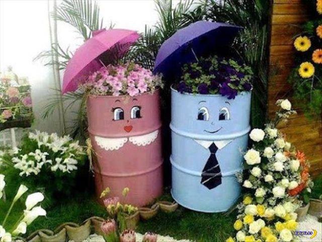 Простые и симпатичные идеи для сада
