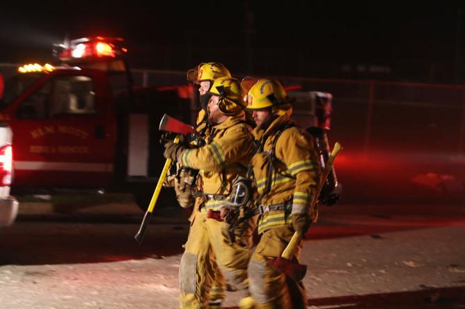 Фото пожара завода удобрений в Техасе