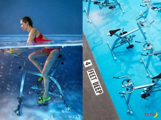 Подводный велосипед?