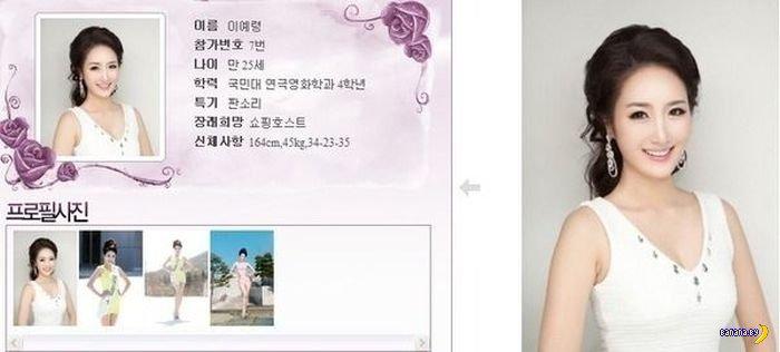 Конкурс красоты в Южной Корее