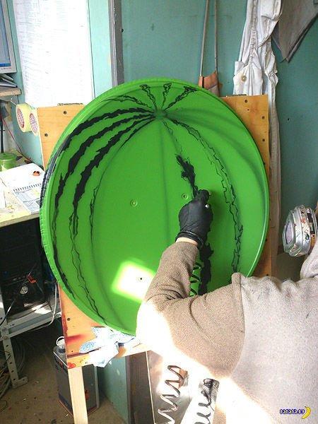 Как обезобразить спутниковую тарелку