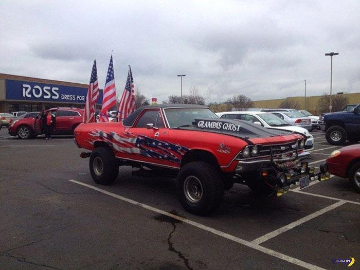 Любят свой флаг или просто придурки?