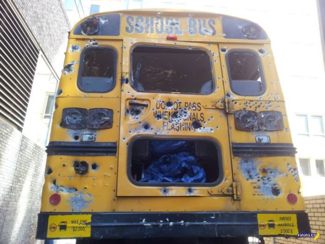 Жуткий расстрел школьного автобуса