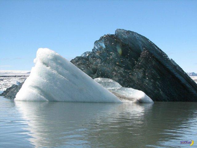 Да, это редкость, но черные айсберги действительно существуют.