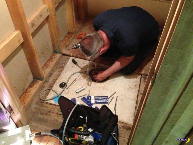 Как жильцы вскрывали найденный в доме сейф