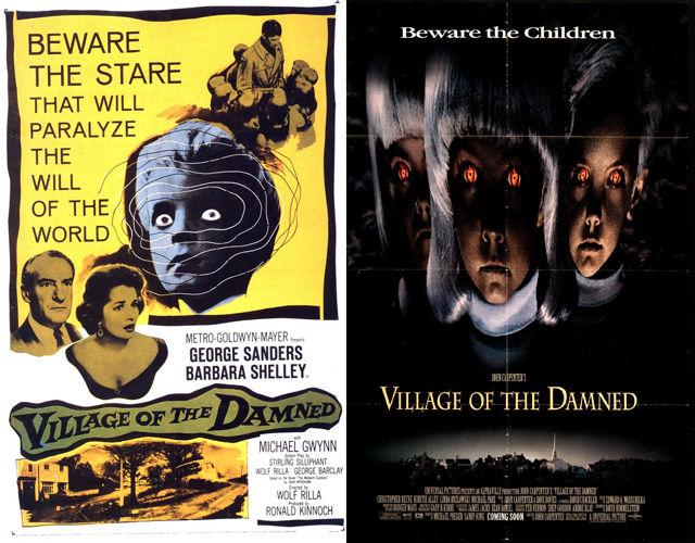 Ремейки ужастиков и их постеров