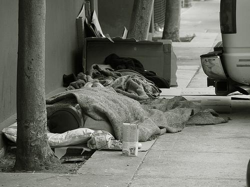 В 2012 году в США было 3,5 млн. бездомных