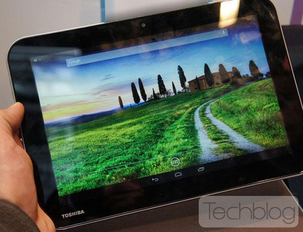 Утечка данных и фото планшета Toshiba