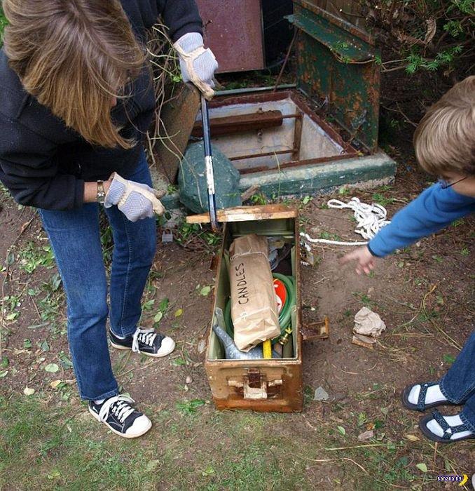 Нашли бункер на заднем дворе