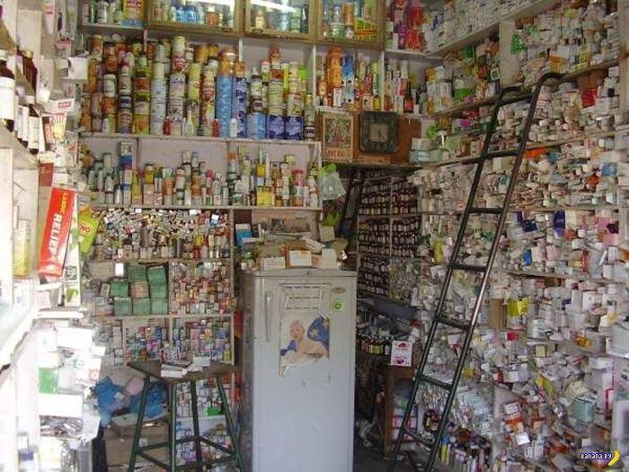 Уличная аптека в Индии