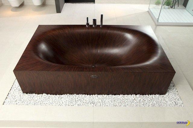 Деревянная ванна?!