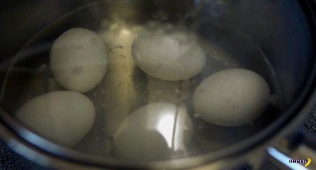 Интересная методика готовки вареных яиц
