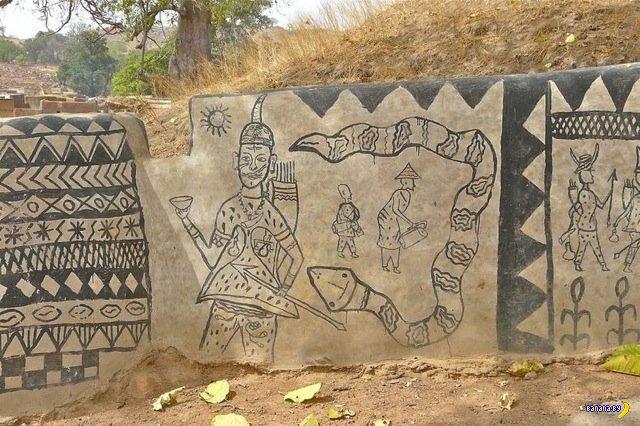Традиционные дома из глины в Буркина-Фасо