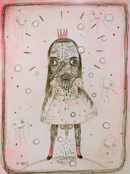 Рисует и показыват Миа Макила