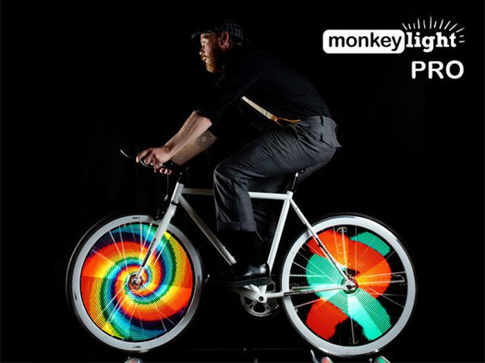 Monkey Light на велосипед
