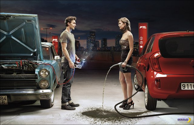Классные рекламные работы Jean Yves Lemoigne