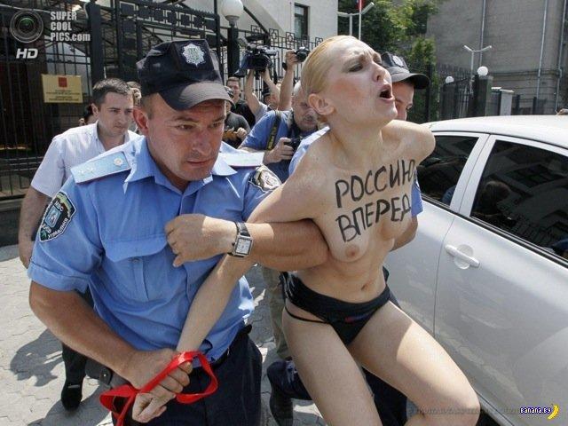 Девушка в чёрных трусах пришла свататься к Путину