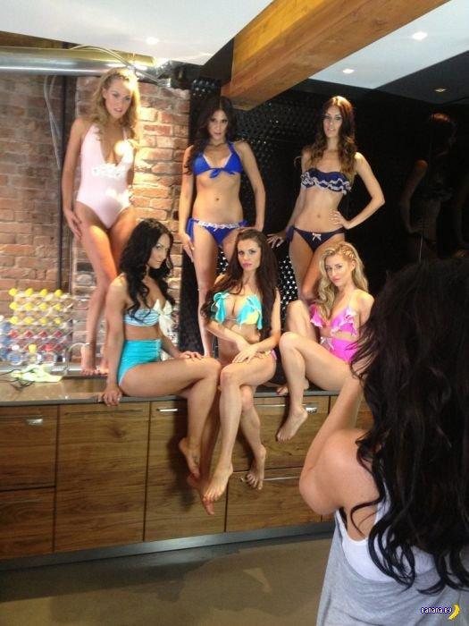 За кулисами съемок бикини-моделей