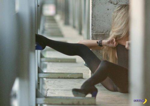 Красивые девушки в нижнем белье  - 14