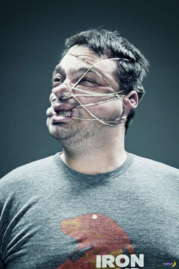 Резинки на лице