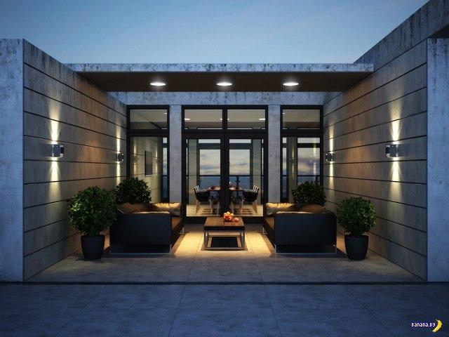 Дом на крыше многоэтажки в Кеве