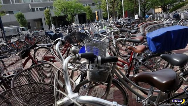 Удивительная велопарковка в Японии
