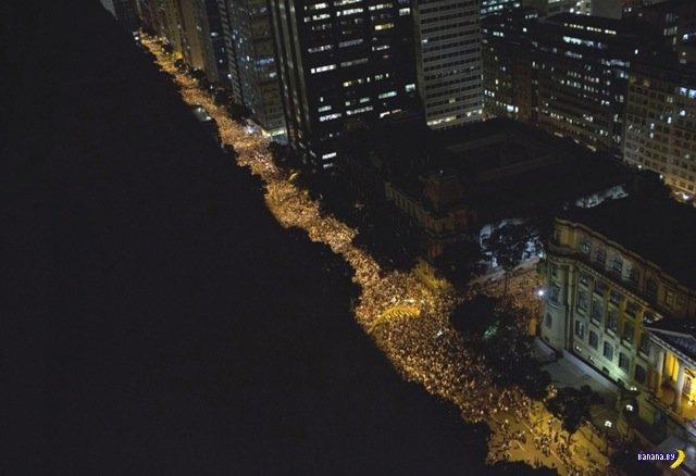 Бразилия в огне –50 сильных фото