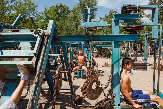 Качалка на Гидропарке в Киеве