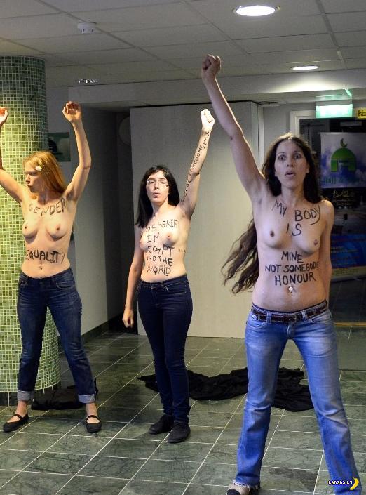 Атака FEMEN в Швеции