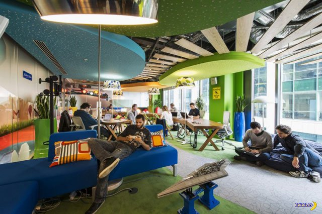Очередной дизайн очередного офиса Google