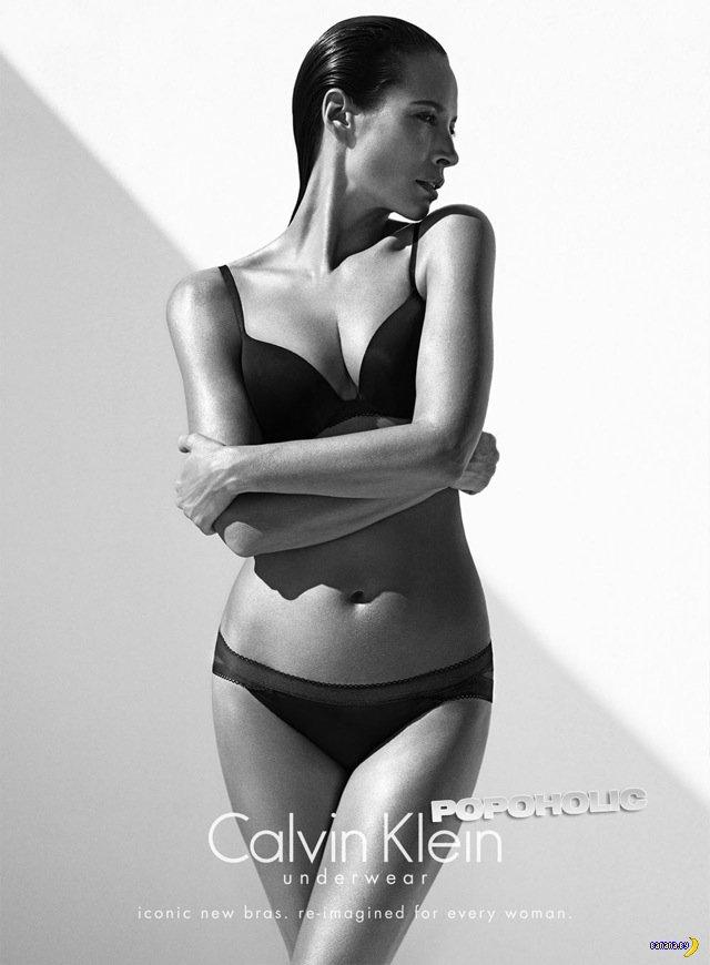 Кристи Тарлингтон в рекламе белья Calvin Klein