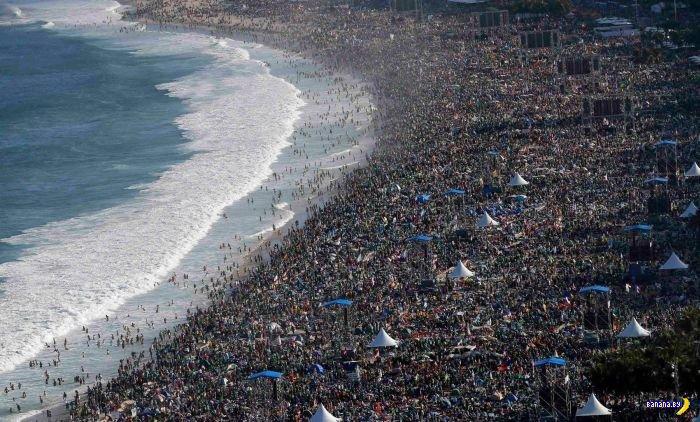 Пляж Копакабанана - реклама и реальность