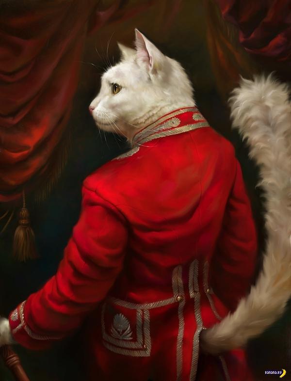 Коты рвутся в классическую живопись