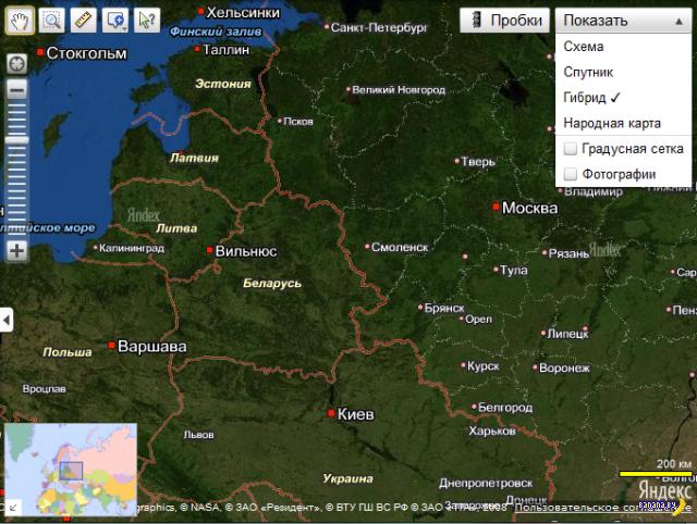 Граница Беларуси и России - вид сверху