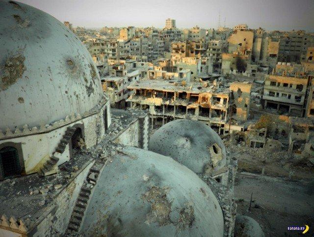 Осовобожденный Хомс в Сирии