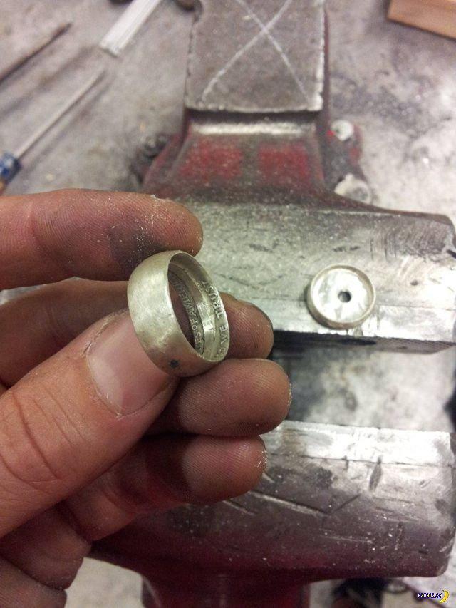 Уникальный способ изготовления колец