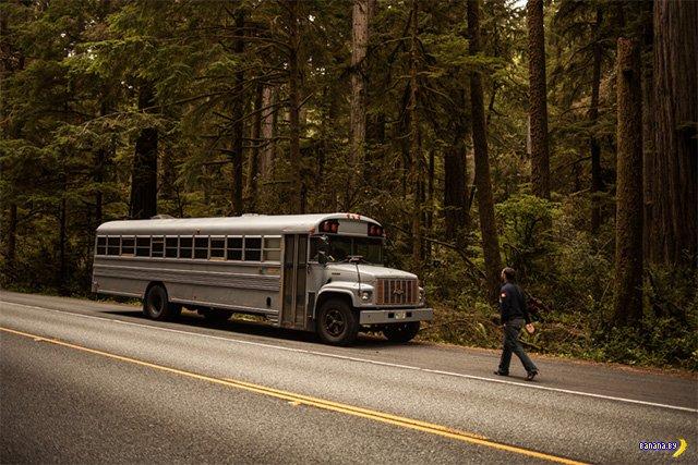 Снова автобус переделали в дом