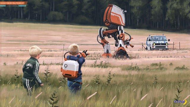 Картины будущего в работах Simon Stålenhag