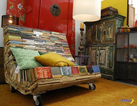Книги в мебели и дизайне