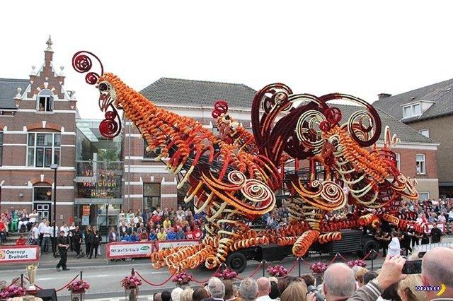 Фестиваль скульптур из цветов в Нидерландах