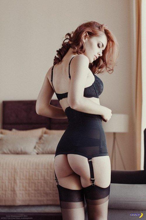 Красивые девушки в нижнем белье  - 17