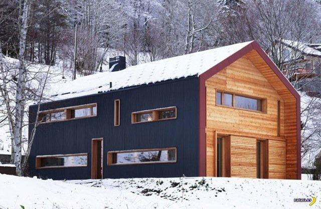 Красота и простота дома в Альпах
