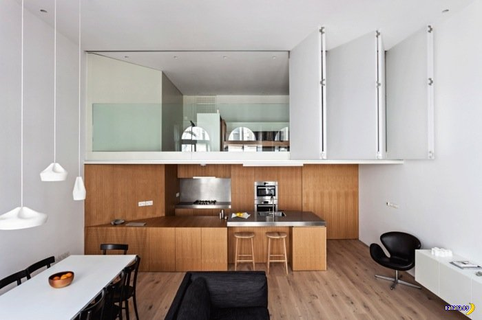 Минимализм в квартире в центре Лондона
